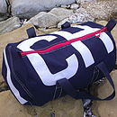 Personalised Navy Blue Canvas Kit Bags