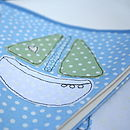 blue yachting boat bunting