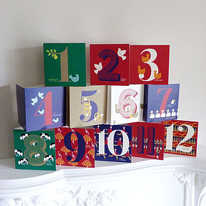 Set Of 12 Days Of Christmas Cards - cards & wrap