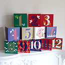 Set Of 12 Days Of Christmas Cards