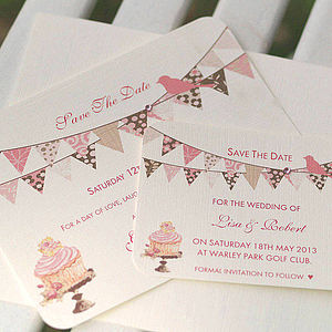 Personalised Save The Date Bunting Cards - view all sale items
