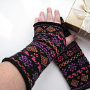 Pure Wool Fairisle Gauntlets