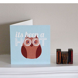 'It's Been A Hoot' Card - cards