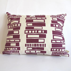 Retro Block Screen Printed Cushion