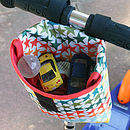 Star Print Child's Scooter Or Bike Bag Basket