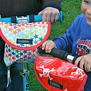 Child's scooter or bike bag in stars garden
