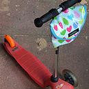 Apple Print Child's Scooter Or Bike Bag