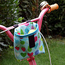 Apples Print Child's Scooter Or Bike Bag Basket