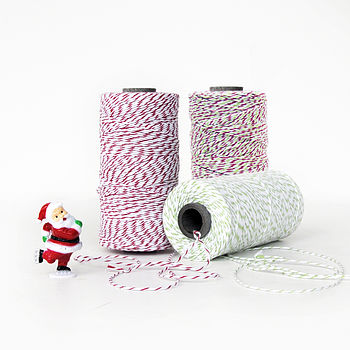 Christmas Red And Green Bakers Twine