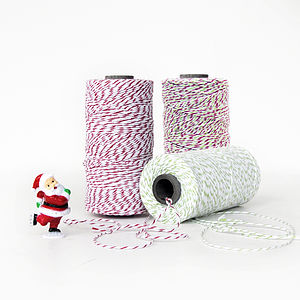 Christmas Red And Green Twine - finishing touches
