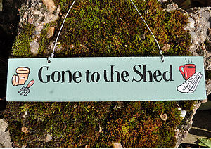 'Shed' Wooden Sign