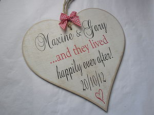 Personalised Wooden Wedding Gift Heart - room decorations