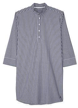 Men's Nightshirt- Denim Stripe