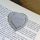 engraved bookmark.