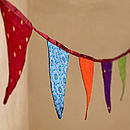 Fair Trade Recycled Sari Bunting