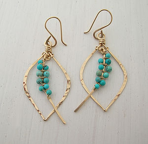 Turquoise Tusk Earrings Petite - birthstone jewellery gifts