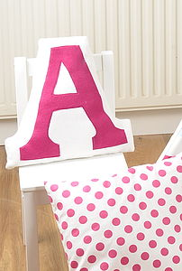 Personalised Letter Cushion - gifts for children