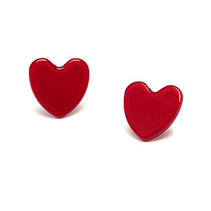 Heart Acrylic Stud Earrings