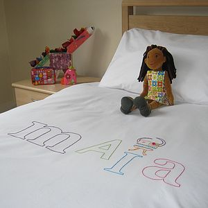 Personalised Childrens Random Font Duvet Cover