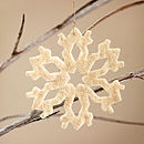Pack Of Three Snowflake Christmas Decoration