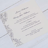 'Vintage Lace' Wedding Invitations - cards