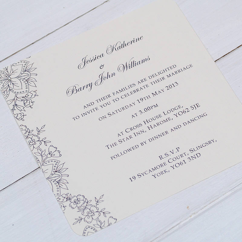 vintage lace' wedding invitations by beautiful day,