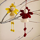 Set Of Two Fair Trade Angel Decorations