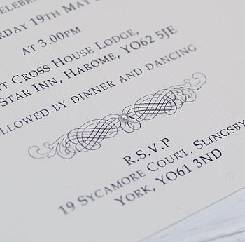 Classic Personalised Wedding Invitation