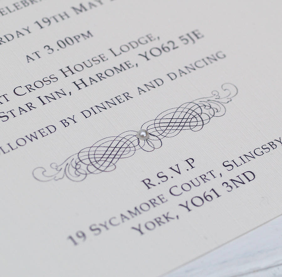 classic personalised wedding invitation by beautiful day ...