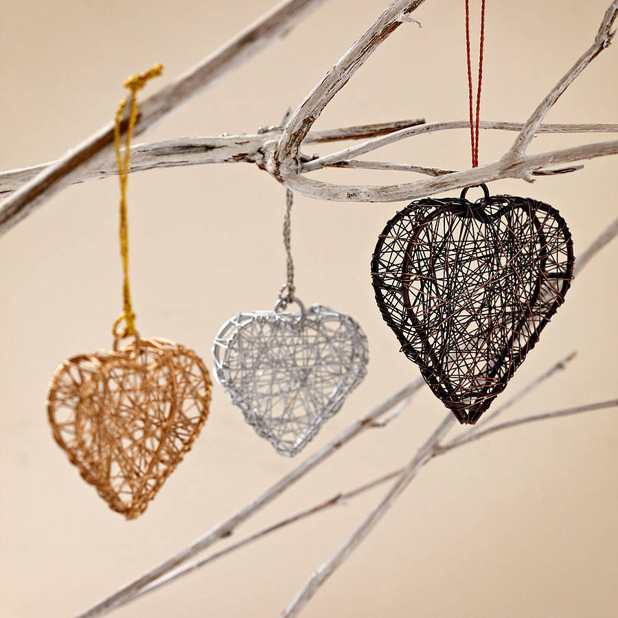 Handcrafted wire heart decorations by paper high for Heart decoration ideas