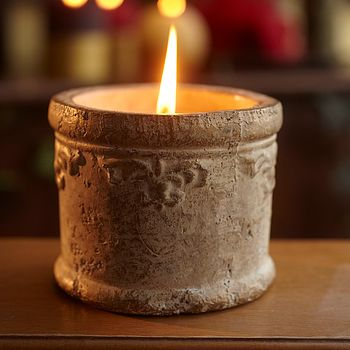 St Eval Baroque Christmas Pot Candle Duo