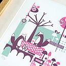 Badger And Woodland Screen-Print