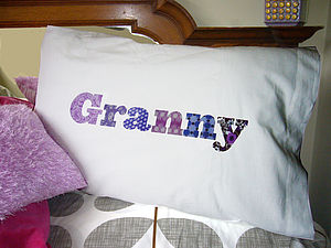 Personalised Granny Pillowcase - bed, bath & table linen