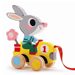 Wooden Pull Along Wooden Animal - traditional toys & games