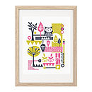 Folk Inspired Owl Forest Screen-Print