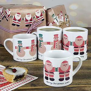 Personalised Christmas Mugs - kitchen accessories