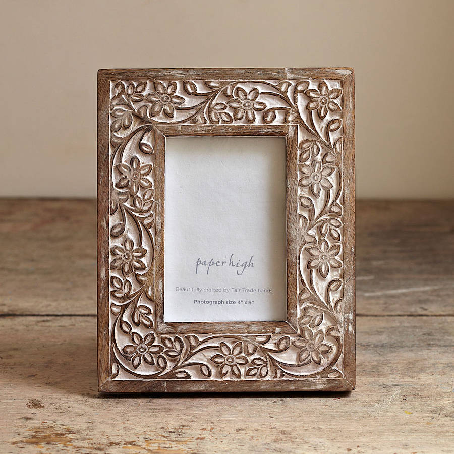 iksu handcrafted wooden photo frame by paper high. Black Bedroom Furniture Sets. Home Design Ideas