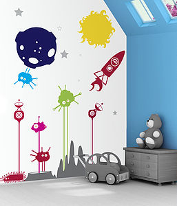 Space Boy Wall Stickers