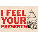 Personalised Wooden Christmas Postcard