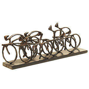 Cyclist Racing Sculpture - living room