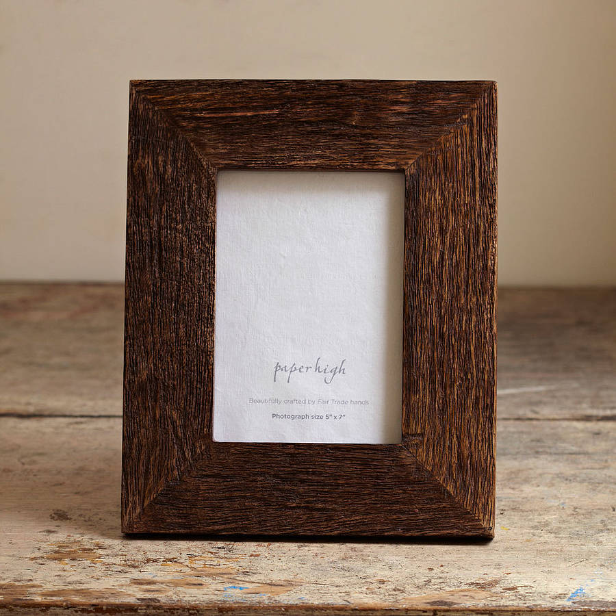 Handmade Natural Wooden Photo Frame By Paper High