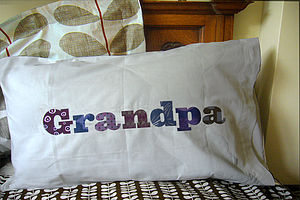 Personalised Grandpa Pillowcase - gifts for grandfathers