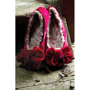 Ruby And Ed Velvet Ballerina Slippers - shoes