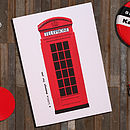Retro Phone Box Card