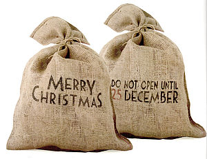 Christmas Present Santa Sack - stockings & sacks