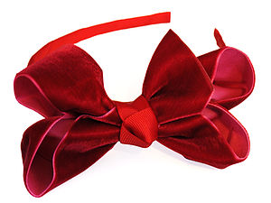 Luxurious Velvet Traditional Bow Headband - wedding fashion