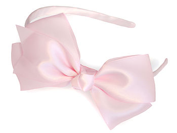 Exquisite Satin Traditional Bow Headband