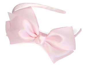 Exquisite Satin Traditional Bow Headband - head pieces