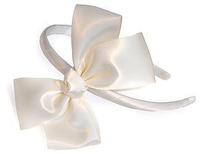 Satin Headband With A Twist - bridesmaid accessories