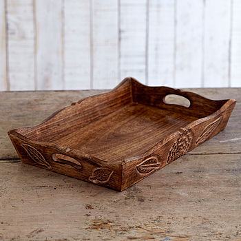 Natural Mango Wood Tea Tray
